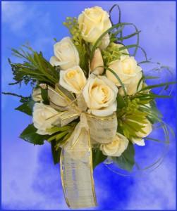 Bukiet ślubny z kremowej róży