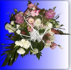 Bukiet ślubny - z życzeniami