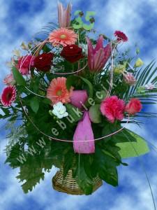 Kosz kwiatów na jubileusz