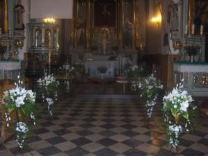 Ubieranie Koscioła - przybieranie kwiaty sztuczne - zestaw